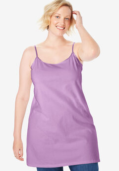 Stretch Cotton Long Camisole,