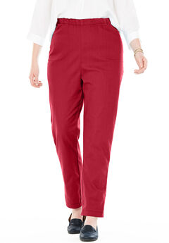 Straight Leg Fineline Jean, STRAWBERRY RED