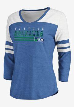 NFL® Long Sleeve Yoked V Tee with Army Stripes, SEAHAWKS