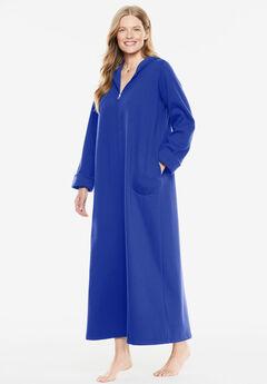 Hooded Fleece Robe by Dreams & Co.®, BLUE SAPPHIRE