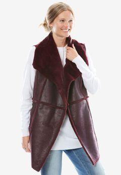 Faux-Shearling vest,