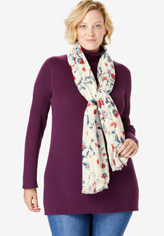 Lightweight Printed Scarf,