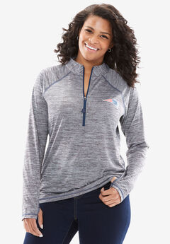 NFL Half-Zip Mock Neck Tee,