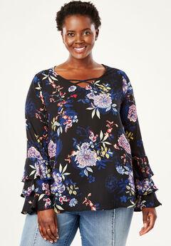 Ruffle Sleeve Blouse by Chelsea Studio®,