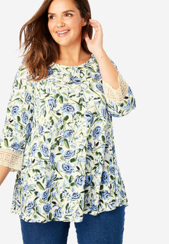 3546b829961 Plus Size 3 4 Sleeve Shirts   Blouses for Women