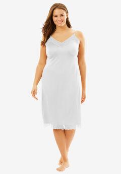 Double Skirted Full Slip by Comfort Choice®, WHITE