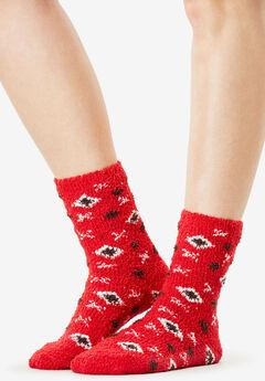 2-Pack Slipper Socks, PINK BURST PACK