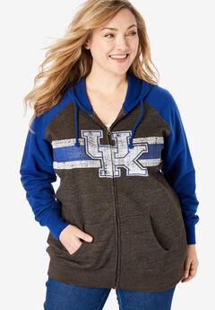 NCAA Team Logo Zip-Front Fleece Hoodie,