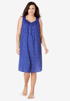 Dreams & Co® Pintuck Cooling Sleeveless Sleepshirt,