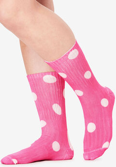 3-Pack Patterned Crew Socks by Comfort Choice®, PEONY PETAL PACK