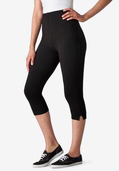 Stretch Cotton Capri Legging,