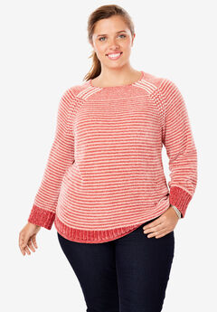 Pullover Chenille Shaker Sweater,