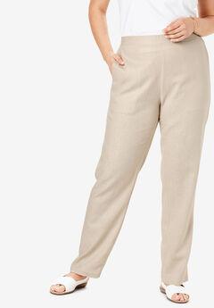 Straight Leg Linen Pant,
