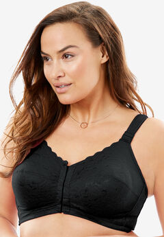 Lace Wireless Posture Bra by Comfort Choice®, BLACK