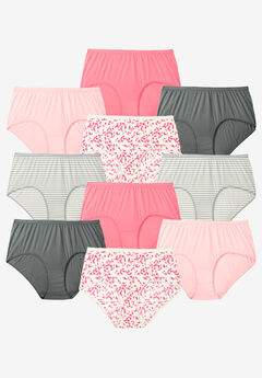 10-Pack Pure Cotton Full-Cut Brief by Comfort Choice®,