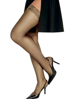 Hanes Silk Reflections Silky Sheer Thigh High,