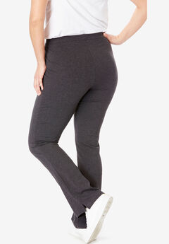 8320dbfcf4b Stretch Cotton Bootcut Yoga Pant. Woman Within