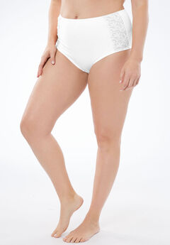 Amoureuse® Embroidered Hipster Panty,