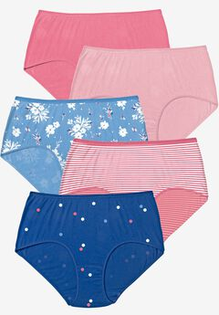 5-Pack Pure Cotton Full-Cut Brief by Comfort Choice®, SCATTERED DOT PACK