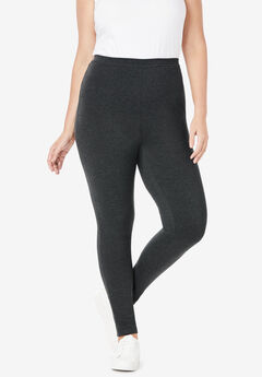 Stretch Cotton Legging, HEATHER CHARCOAL