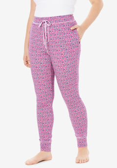 Relaxed Pajama Pant by Dreams & Co.®, LIGHT ORCHID CONFETTI