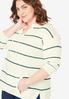 Tassel-Tie Pullover Sweater,
