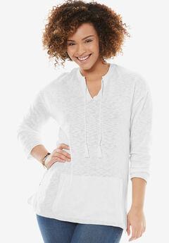 Tassel-Tie Pullover,