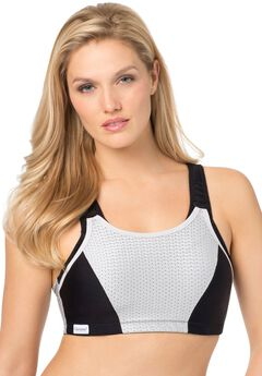 Glamorise® Adjustable Wire-Free Sport Bra #1166,