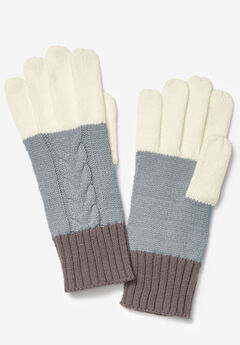 Cable Knit Gloves,
