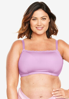 Lace-Trim Wireless Cami Bra Comfort Choice®, LIGHT ORCHID