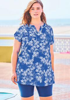 Short-Sleeve Swim Tunic ,