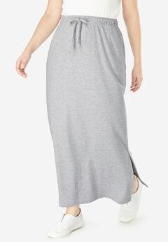 a376bca72bd Sport Knit Side-Slit Skirt