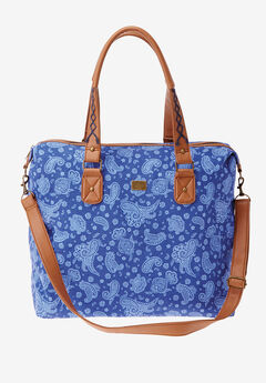 Denim weekender bag,