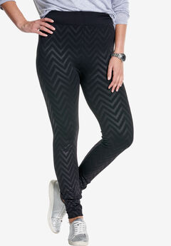 Embossed legging,