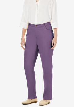 Perfect Straight Leg Jean, SWEET GRAPE