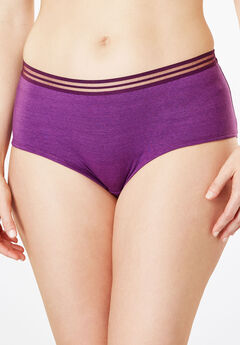 2-Pack Hipster Sport Panty by Comfort Choice®, BERRY SPACE DYE PACK