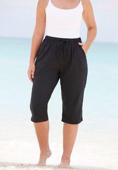 Taslon® Capri Swim Pant,