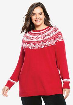 Fair Isle Knit Sweater,