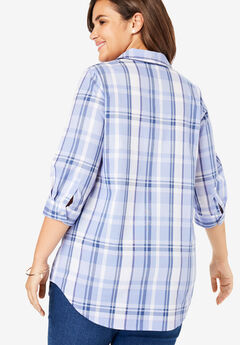 32339e73f7 Printed Three-Quarter Sleeve Perfect Shirt