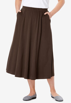 a80070bfe6e 7-Day Knit A-Line Skirt. Woman Within