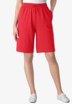 Sport Knit Short, VIVID RED