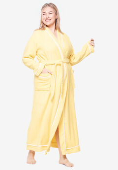 Spa Terry Long Wrap Robe by Dreams & Co.®, WARM YELLOW