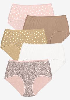 5-Pack Pure Cotton Full-Cut Brief by Comfort Choice®, DOT PACK