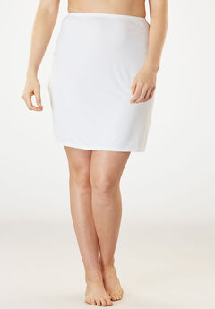 Microfiber Half Slip by Comfort Choice®, WHITE