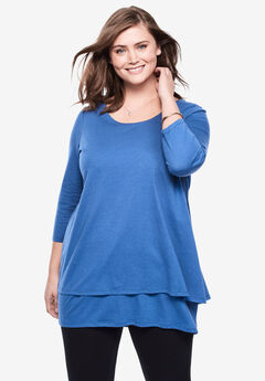 Double Layer Vented Tunic,