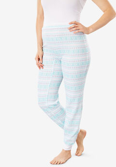 Thermal Lounge Pant by Comfort Choice®, AZURE FAIR ISLE