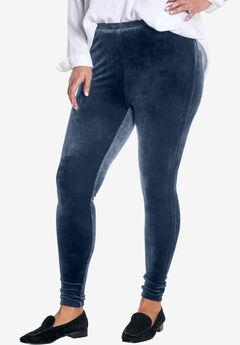 Stretch velour leggings,