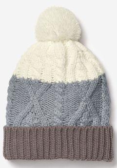 Cable Knit Pom-Pom Beanie,