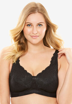 Elila® Stretch Lace Soft Cup Bra #1607,