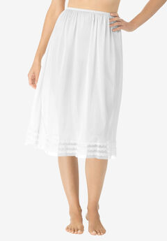 Snip-to-fit half slip by Comfort Choice® , WHITE